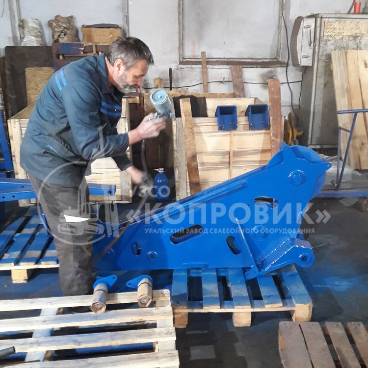 Покраска металлоконструкций - цех УЗСО Копровик